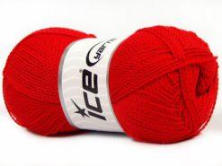 Lot of 4 x 100gr Skeins Ice Yarns WAYUU Hand Knitting Yarn Red