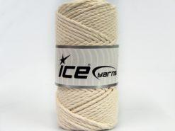 250 gr ICE YARNS COTTON ROPE (100% Cotton) Hand Knitting Yarn Ecru