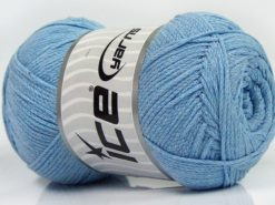Lot of 4 x 100gr Skeins Ice Yarns NATURAL COTTON AIR (100% Cotton) Yarn Baby Blue