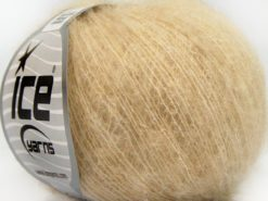 Lot of 10 Skeins Ice Yarns SUPERKID MOHAIR COMFORT (41% SuperKid Mohair 11% Merino Wool) Yarn Dark Cream