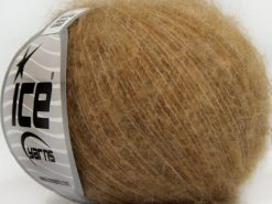 Lot of 10 Skeins Ice Yarns SUPERKID MOHAIR COMFORT (41% SuperKid Mohair 11% Merino Wool) Yarn Light Brown