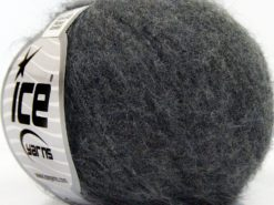 Lot of 10 Skeins Ice Yarns SUPERKID MOHAIR COMFORT (41% SuperKid Mohair 11% Merino Wool) Yarn Dark Grey