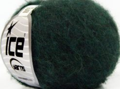Lot of 10 Skeins Ice Yarns SUPERKID MOHAIR COMFORT (41% SuperKid Mohair 11% Merino Wool) Yarn Dark Green