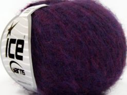 Lot of 10 Skeins Ice Yarns SUPERKID MOHAIR COMFORT (41% SuperKid Mohair 11% Merino Wool) Yarn Purple Dark Fuchsia