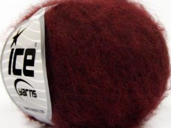 Lot of 10 Skeins Ice Yarns SUPERKID MOHAIR COMFORT (41% SuperKid Mohair 11% Merino Wool) Yarn Dark Burgundy