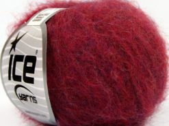 Lot of 10 Skeins Ice Yarns SUPERKID MOHAIR COMFORT (41% SuperKid Mohair 11% Merino Wool) Yarn Dark Fuchsia