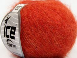 Lot of 10 Skeins Ice Yarns SUPERKID MOHAIR COMFORT (41% SuperKid Mohair 11% Merino Wool) Yarn Orange