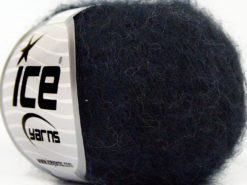 Lot of 10 Skeins Ice Yarns SUPERKID MOHAIR COMFORT (41% SuperKid Mohair 11% Merino Wool) Yarn Black Navy