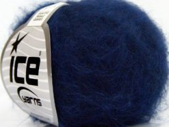 Lot of 10 Skeins Ice Yarns SUPERKID MOHAIR COMFORT (41% SuperKid Mohair 11% Merino Wool) Yarn Dark Blue