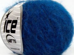 Lot of 10 Skeins Ice Yarns SUPERKID MOHAIR COMFORT (41% SuperKid Mohair 11% Merino Wool) Yarn Blue Shades