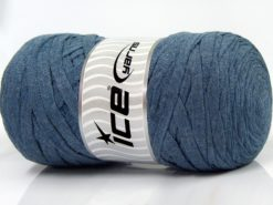 250 gr ICE YARNS JUMBO COTTON RIBBON (100% Recycled Cotton) Yarn Jeans Blue