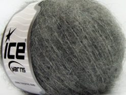 Lot of 8 Skeins Ice Yarns KID MOHAIR ALPACA LIGHT (41% Alpaca Superfine 41% Kid Mohair) Yarn Grey