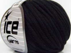 Lot of 8 Skeins Ice Yarns TUBE COTTON (70% Cotton) Hand Knitting Yarn Black