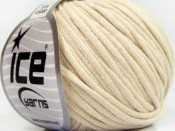 Lot of 8 Skeins Ice Yarns TUBE COTTON (70% Cotton) Yarn Dark Cream