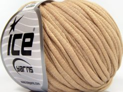 Lot of 8 Skeins Ice Yarns TUBE COTTON (70% Cotton) Hand Knitting Yarn Beige