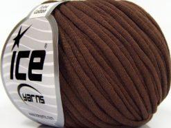 Lot of 8 Skeins Ice Yarns TUBE COTTON (70% Cotton) Yarn Dark Brown