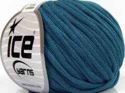 Lot of 8 Skeins Ice Yarns TUBE COTTON (70% Cotton) Hand Knitting Yarn Dark Teal