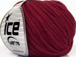 Lot of 8 Skeins Ice Yarns TUBE COTTON (70% Cotton) Hand Knitting Yarn Burgundy