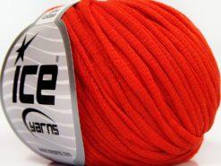Lot of 8 Skeins Ice Yarns TUBE COTTON (70% Cotton) Hand Knitting Yarn Orange