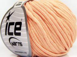 Lot of 8 Skeins Ice Yarns TUBE COTTON (70% Cotton) Yarn Light Salmon