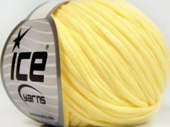 Lot of 8 Skeins Ice Yarns TUBE COTTON (70% Cotton) Yarn Light Yellow
