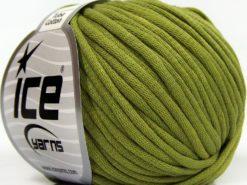 Lot of 8 Skeins Ice Yarns TUBE COTTON (70% Cotton) Yarn Dark Green