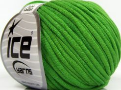 Lot of 8 Skeins Ice Yarns TUBE COTTON (70% Cotton) Hand Knitting Yarn Green