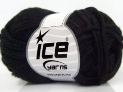 Lot of 8 Skeins Ice Yarns PURE COTTON (100% Cotton) Hand Knitting Yarn Black