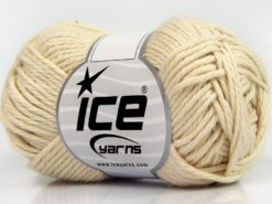 Lot of 8 Skeins Ice Yarns PURE COTTON (100% Cotton) Yarn Dark Cream