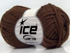 Lot of 8 Skeins Ice Yarns PURE COTTON (100% Cotton) Yarn Dark Brown