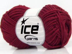 Lot of 8 Skeins Ice Yarns PURE COTTON (100% Cotton) Hand Knitting Yarn Burgundy