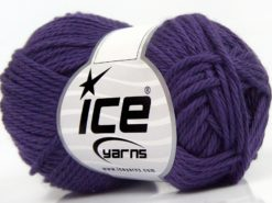 Lot of 8 Skeins Ice Yarns PURE COTTON (100% Cotton) Hand Knitting Yarn Purple