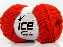 Lot of 8 Skeins Ice Yarns PURE COTTON (100% Cotton) Yarn Dark Orange