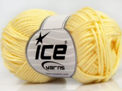 Lot of 8 Skeins Ice Yarns PURE COTTON (100% Cotton) Hand Knitting Yarn Yellow