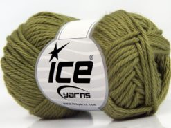 Lot of 8 Skeins Ice Yarns PURE COTTON (100% Cotton) Hand Knitting Yarn Khaki