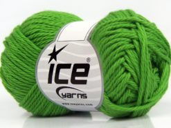 Lot of 8 Skeins Ice Yarns PURE COTTON (100% Cotton) Hand Knitting Yarn Green