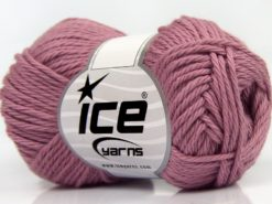 Lot of 8 Skeins Ice Yarns PURE COTTON (100% Cotton) Hand Knitting Yarn Orchid
