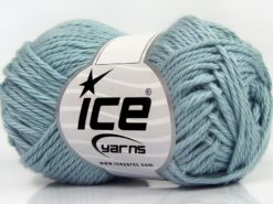 Lot of 8 Skeins Ice Yarns PURE COTTON (100% Cotton) Yarn Baby Blue