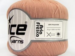 Lot of 6 Skeins Ice Yarns ARIA FRESCA Hand Knitting Yarn Light Pink