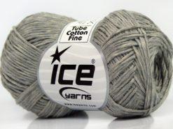 Lot of 8 Skeins Ice Yarns TUBE COTTON FINE (67% Cotton) Yarn Grey Shades