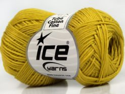 Lot of 8 Skeins Ice Yarns TUBE COTTON FINE (67% Cotton) Yarn Light Olive Green
