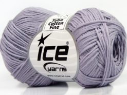 Lot of 8 Skeins Ice Yarns TUBE COTTON FINE (67% Cotton) Yarn Lilac
