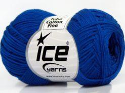 Lot of 8 Skeins Ice Yarns TUBE COTTON FINE (67% Cotton) Yarn Dark Blue