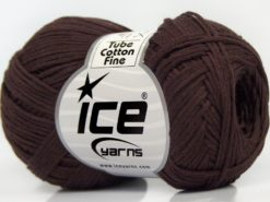 Lot of 8 Skeins Ice Yarns TUBE COTTON FINE (67% Cotton) Yarn Dark Maroon
