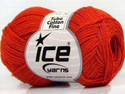 Lot of 8 Skeins Ice Yarns TUBE COTTON FINE (67% Cotton) Yarn Dark Orange