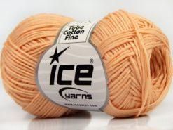 Lot of 8 Skeins Ice Yarns TUBE COTTON FINE (67% Cotton) Yarn Light Salmon