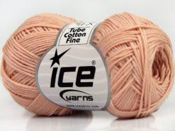 Lot of 8 Skeins Ice Yarns TUBE COTTON FINE (67% Cotton) Yarn Powder Pink