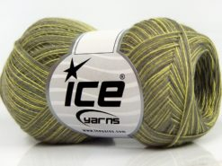 Lot of 8 Skeins Ice Yarns CASHMERE VISCOSE (15% Cashmere 85% Viscose) Yarn Green Shades