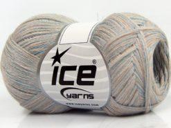 Lot of 8 Skeins Ice Yarns CASHMERE VISCOSE (15% Cashmere 85% Viscose) Yarn Beige Light Blue