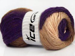 Lot of 4 x 100gr Skeins Ice Yarns SALE WINTER Yarn Purple Shades Fuchsia Brown Shades